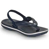 Zapatos Niños Chanclas Crocs CROCBAND STRAP FLIP K Marino