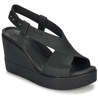 Zapatos Mujer Sandalias Crocs CROCS BROOKLYN HIGH WEDGE W Negro