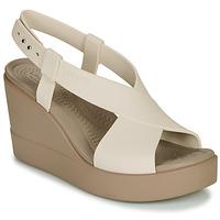 Zapatos Mujer Sandalias Crocs CROCS BROOKLYN HIGH WEDGE W Beige