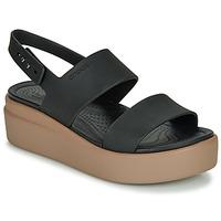 Zapatos Mujer Sandalias Crocs CROCS BROOKLYN LOW WEDGE W Negro / Camel