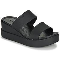 Zapatos Mujer Sandalias Crocs CROCS BROOKLYN MID WEDGE W Negro