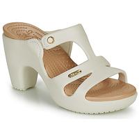 Zapatos Mujer Zuecos (Mules) Crocs CYPRUS V HEEL W Blanco