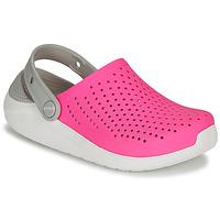 Zapatos Niña Zuecos (Clogs) Crocs LITERIDE CLOG K Rosa / Blanco