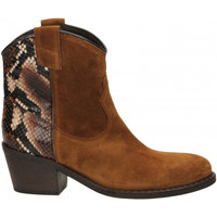 Zapatos Mujer Botines Via Roma 15 TEXANO 347 chianti-rosso