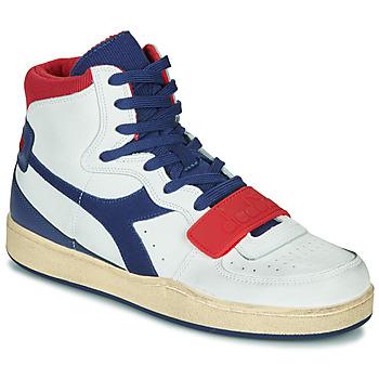 Zapatos Hombre Zapatillas altas Diadora MI BASKET USED Blanco / Azul / Rojo
