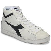 Zapatos Zapatillas altas Diadora GAME L HIGH WAXED Blanco / Negro