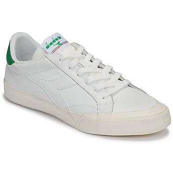 Zapatos Mujer Zapatillas bajas Diadora MELODY LEATHER DIRTY Blanco / Verde