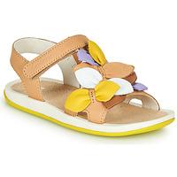Zapatos Niños Sandalias Camper TWINS Marrón / Amarillo