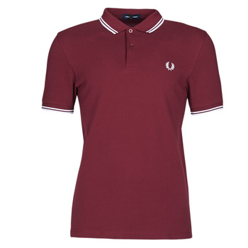 textil Hombre Polos manga corta Fred Perry TWIN TIPPED FRED PERRY SHIRT Burdeo