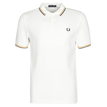 textil Hombre Polos manga corta Fred Perry TWIN TIPPED FRED PERRY SHIRT Blanco