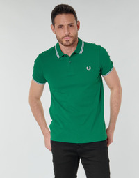 textil Hombre Polos manga corta Fred Perry TWIN TIPPED FRED PERRY SHIRT Verde
