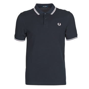 textil Hombre Polos manga corta Fred Perry TWIN TIPPED FRED PERRY SHIRT Azul / Blanco