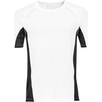 textil Hombre camisetas manga corta Sols SYDNEY MEN SPORT Blanco