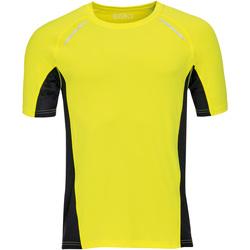 textil Hombre camisetas manga corta Sols SYDNEY MEN SPORT Amarillo
