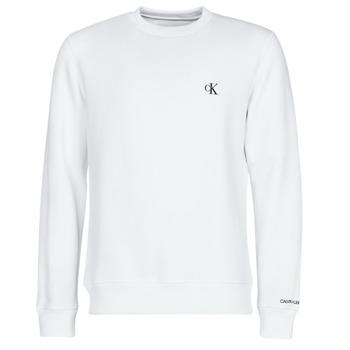 textil Hombre Sudaderas Calvin Klein Jeans CK ESSENTIAL REG CN Blanco