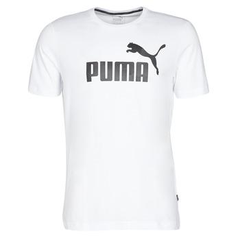 textil Hombre Camisetas manga corta Puma ESSENTIAL TEE Blanco