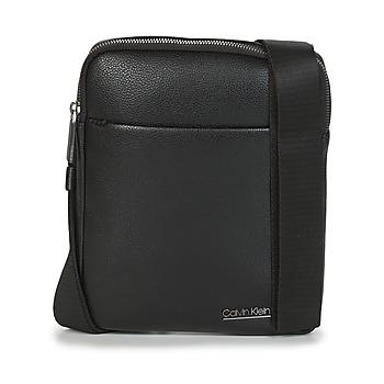 Bolsos Hombre Bolso pequeño / Cartera Calvin Klein Jeans CK BOMBE' FLAT CROSSOVER Negro