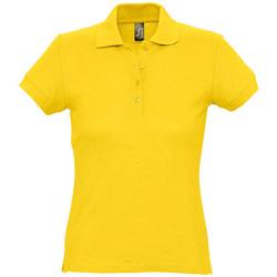 textil Mujer polos manga corta Sols PASSION WOMEN COLORS Amarillo