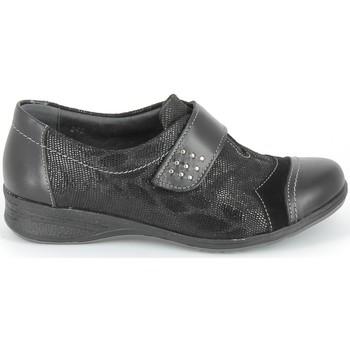 Zapatos Derbie & Richelieu Boissy Derby 7510 Noir Texturé Negro