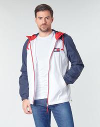 textil Hombre cazadoras Tommy Jeans TJM COLORBLOCK ZIPTHROUGH JCKT Blanco / Azul / Rojo
