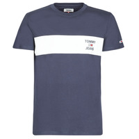 textil Hombre camisetas manga corta Tommy Jeans TJM CHEST STROPE LOGO Marino