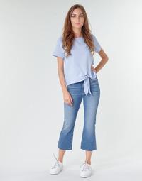 textil Mujer Vaqueros rectos Tommy Jeans KATIE CROP FLARE Azul / Medium