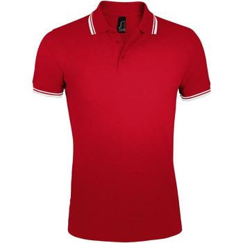 textil Hombre polos manga corta Sols PASADENA MODERN MEN Rojo