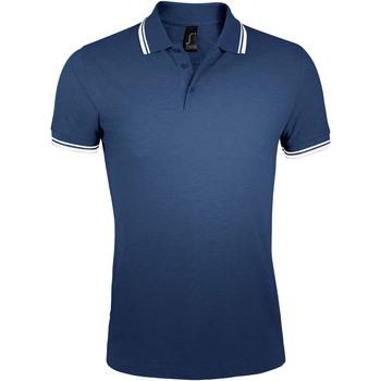 textil Hombre Polos manga corta Sols PASADENA MODERN MEN Azul
