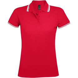 textil Mujer polos manga corta Sols PASADENA MODERN WOMEN Rojo