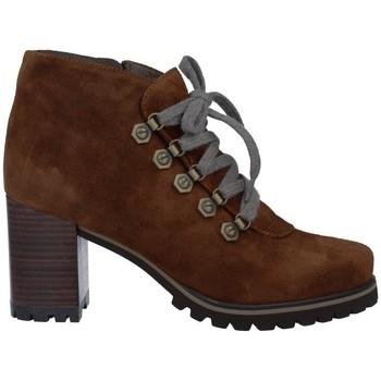 Zapatos Mujer Botas de caña baja Pedro Miralles 25840 Botines con Cordones de Mujer marrón