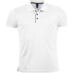 textil Hombre Polos manga corta Sols PERFORMER MEN SPORT Blanco