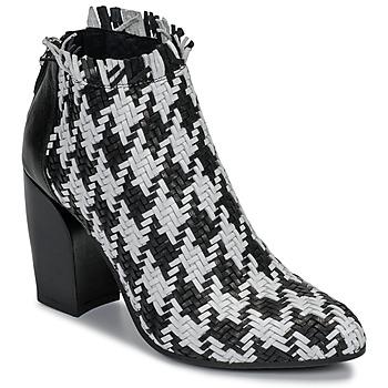 Zapatos Mujer Low boots Mimmu JESTINE Negro / Blanco
