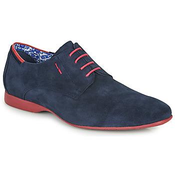 Zapatos Hombre Derbie Fluchos VESUBIO Marino / Rojo