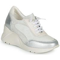 Zapatos Mujer Zapatillas bajas Hispanitas TOKIO Blanco / Plateado