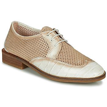 Zapatos Mujer Derbie Hispanitas LONDRES Beige / Blanco