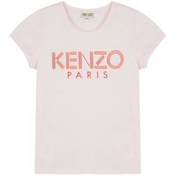 textil Niña camisetas manga corta Kenzo Kids LOGO JG 3 CAMISETA Rosa