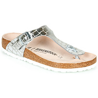 Zapatos Mujer Chanclas Birkenstock GIZEH Silver