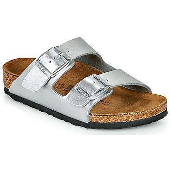 Zapatos Niña Zuecos (Mules) Birkenstock ARIZONA Silver