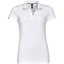 textil Mujer polos manga corta Sols PATRIOT FASHION WOMEN Blanco