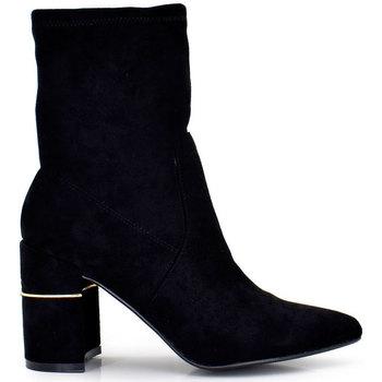 Zapatos Mujer Botines Exé Shoes BOTINES TACON ANCHO SUEDE H1100T-K401 Color Negro