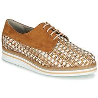Zapatos Mujer Derbie Dorking ROMY Marrón / Blanco