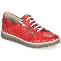 Zapatos Mujer Zapatillas bajas Dorking KAREN Rojo / Beige