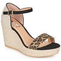 Zapatos Mujer Sandalias S.Oliver NOULATI Negro / Leopardo
