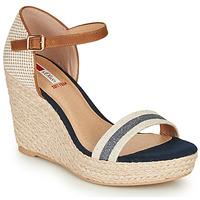 Zapatos Mujer Sandalias S.Oliver NOULATI Beige / Marino