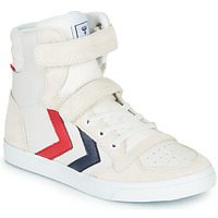 Zapatos Niños Zapatillas altas Hummel SLIMMER STADIL LEATHER HIGH JR Blanco