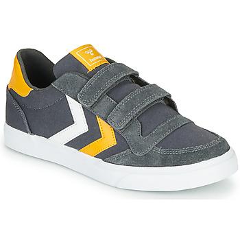 Zapatos Niños Zapatillas bajas Hummel STADIL LOW JR Gris