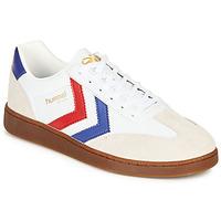 Zapatos Hombre Zapatillas bajas Hummel VM78 CPH LEATHER Blanco / Rojo / Azul