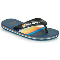 Zapatos Niños Chanclas Quiksilver MOLOKAI SLAB Azul / Naranja / Negro