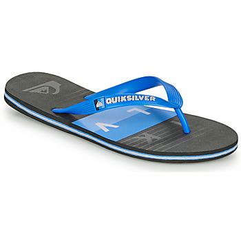 Zapatos Hombre Chanclas Quiksilver MOLOKAI WOLRDBLOCK Azul / Negro