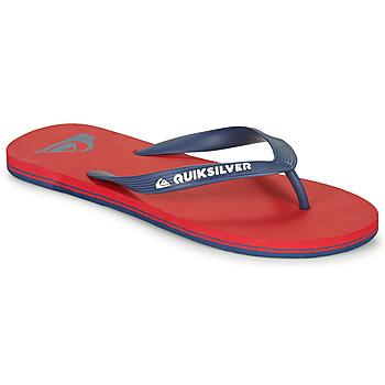 Zapatos Hombre Chanclas Quiksilver MOLOKAI Rojo / Marino